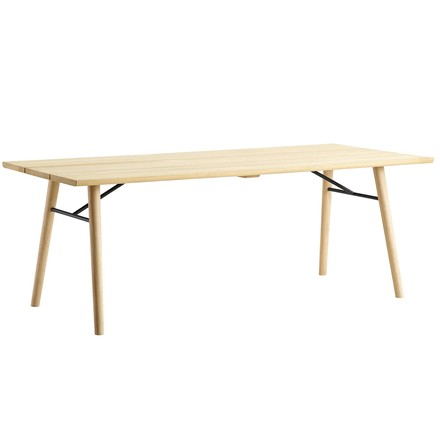 Split Dining Table by Woud in soaped oak