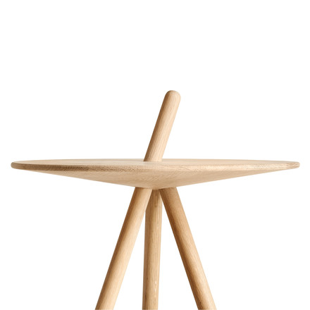 Come Here side table by Woud in oak soaped