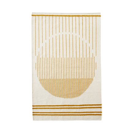 Woud - Raining Circle Rug, 170 x 240 cm, yellow