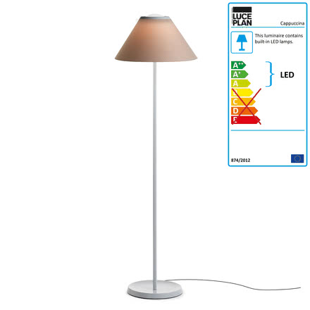 Cappuccina Floor Lamp by Luceplan in Brown