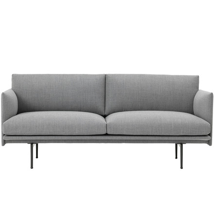Outline Sofa 2-seater by Muuto in grey