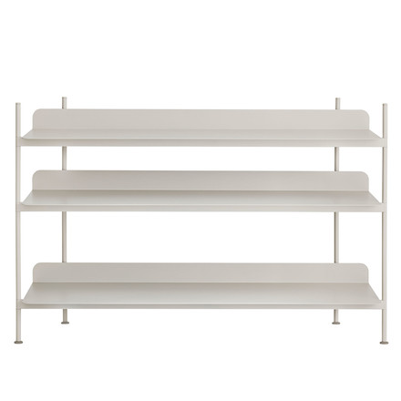 Compile Shelving System (Config. 2) by Muuto in grey