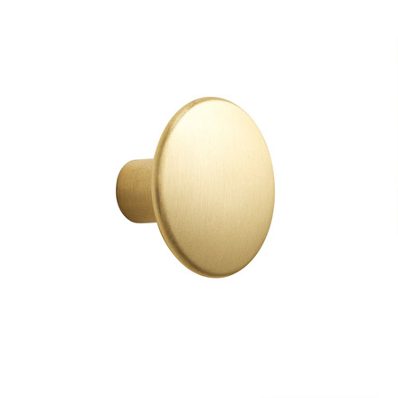 "Wall Hook ""The Dots Metal"" Single Small by Muuto made of brass"