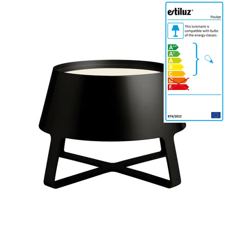 Estiluz - Poulpe Floor Lamp, black