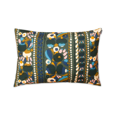 Tuppurainen cushion cover 40 x 60 cm by Marimekko in green / orange / blue