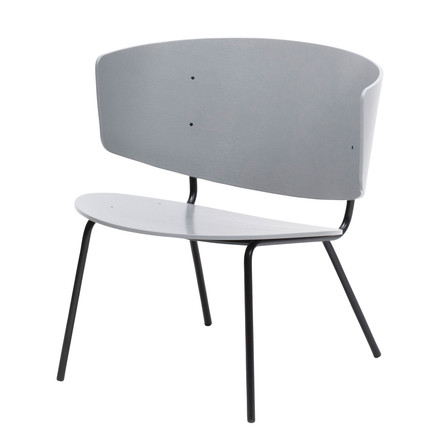 Herman Lounge Chair by ferm Living in light grey