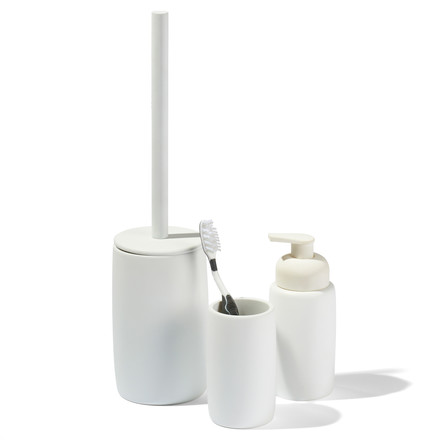 Soap dispenser, bathroom tumbler and toilet brush from Södahl