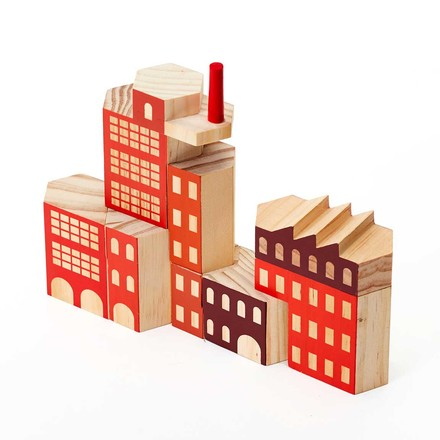 Areaware - Blockitecture, Toy wooden architecture, factory