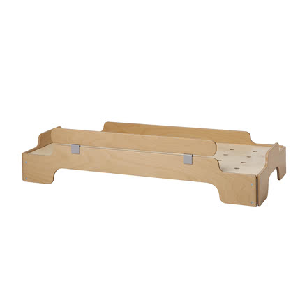 Children's Stacking Bed with Protection Bar by Müller Möbelwerkstätten