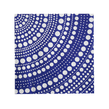 Kastehelmi paper napkins by Iittala in ultramarine blue