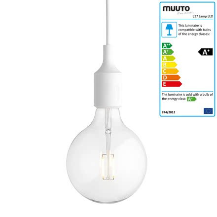 Muuto - E27-Socket Pendant Lamp LED, white