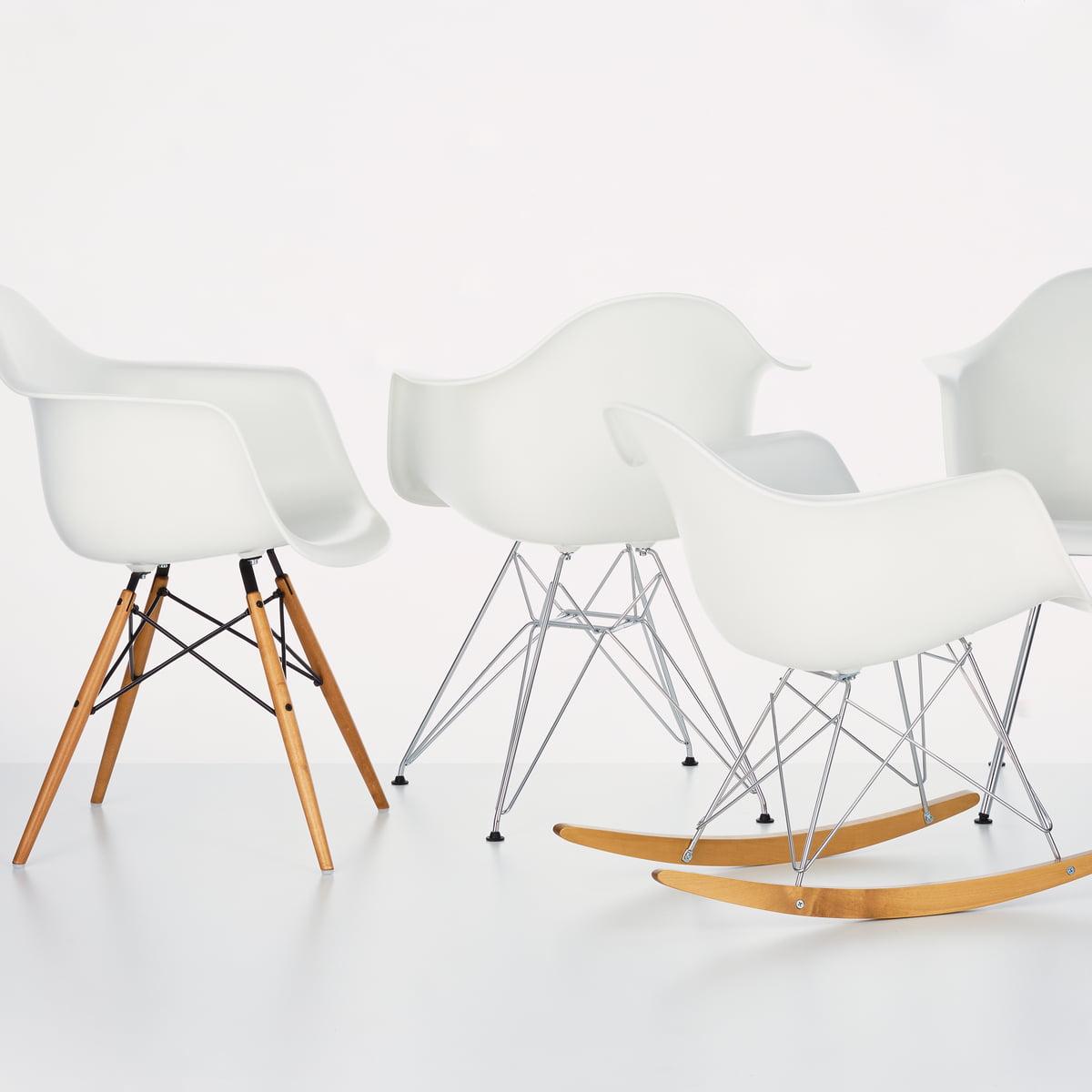Eames plastic rocking chair - Eames Plastic Armchair Dax