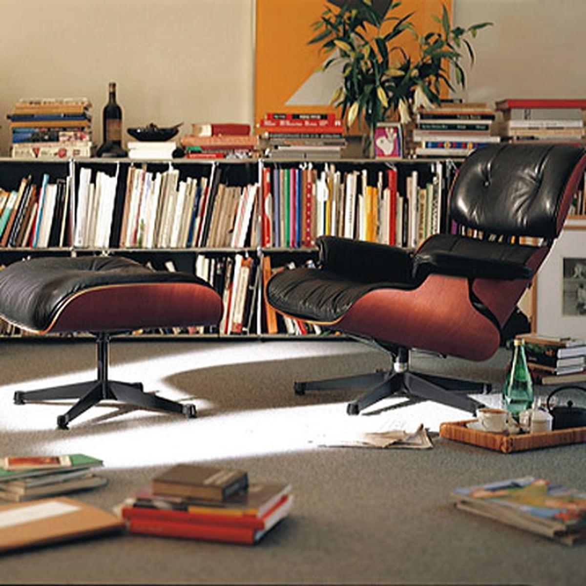 Vitra lounge chair amp ottoman white version von charles amp ray eames - Lounge Chair And Ottoman By Vitra