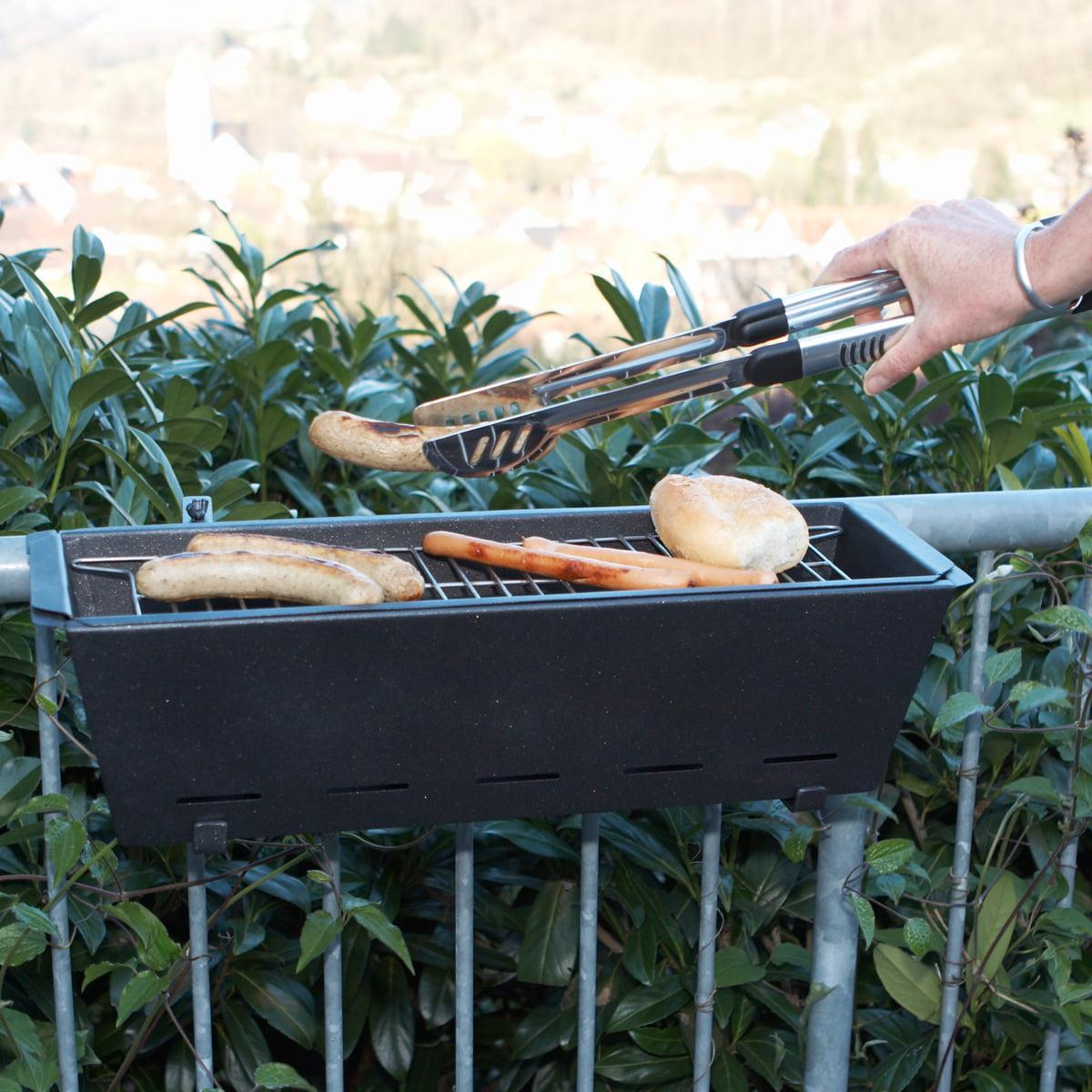 bbq bruce balcony-handrail grill in the shop, Garten und erstellen