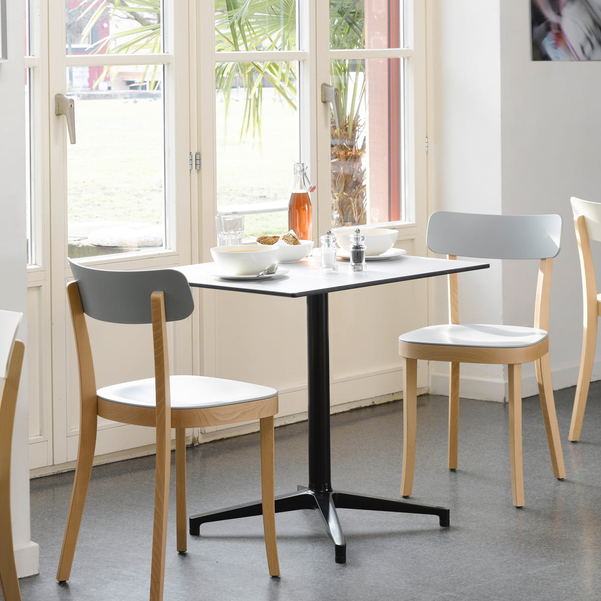 Indoor bistro table and chairs - Vitra Bistro Table Basel Chair