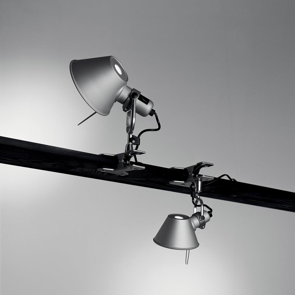tolomeo pinza clipon led light by artemide - artemide tolomeo  pinza clamp lamp