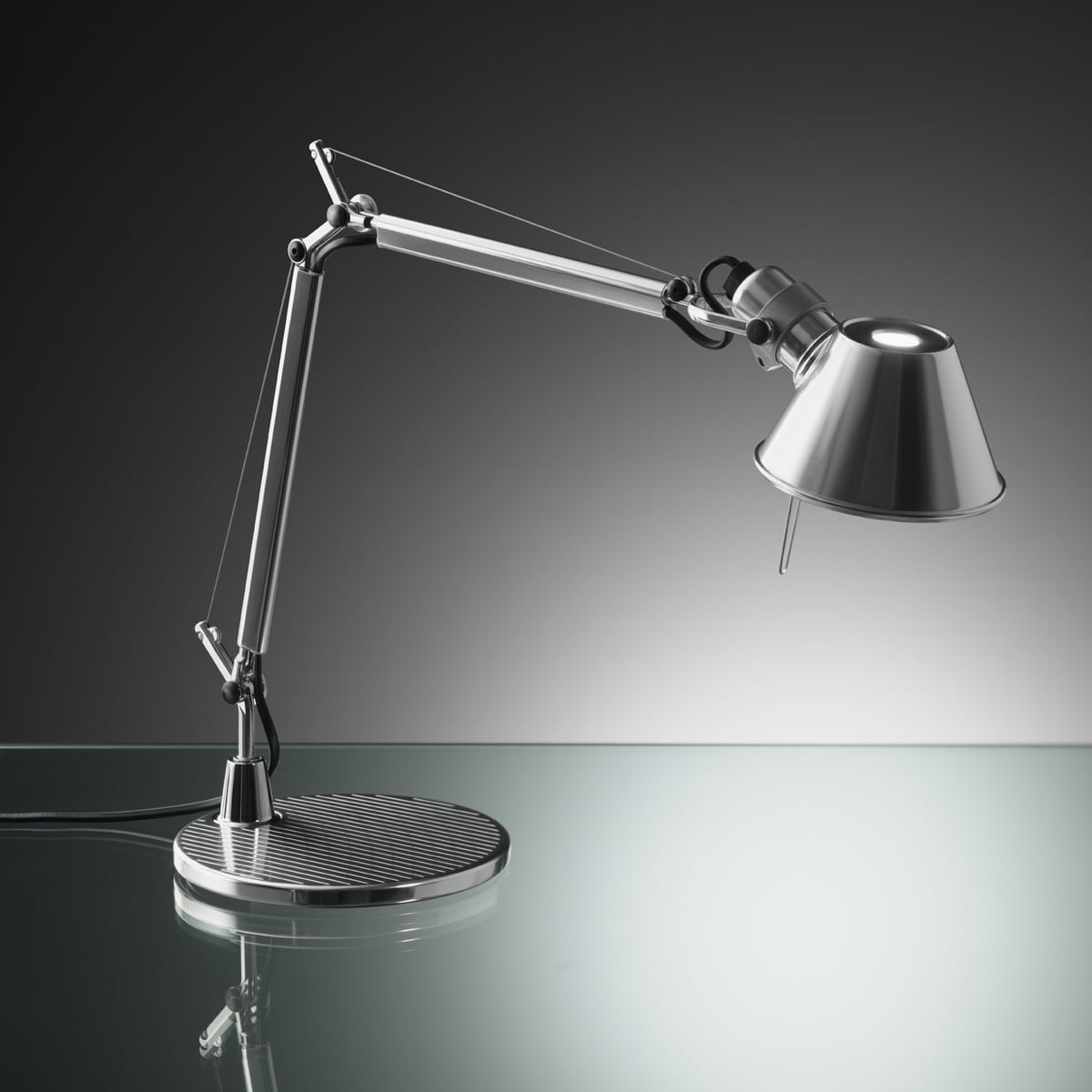 artemide tolomeo micro table lamp aluminium