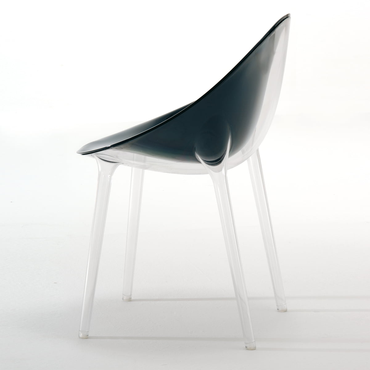 kartell  mr impossible chair  kartell  shop - kartell  mr impossible chair transparent  black