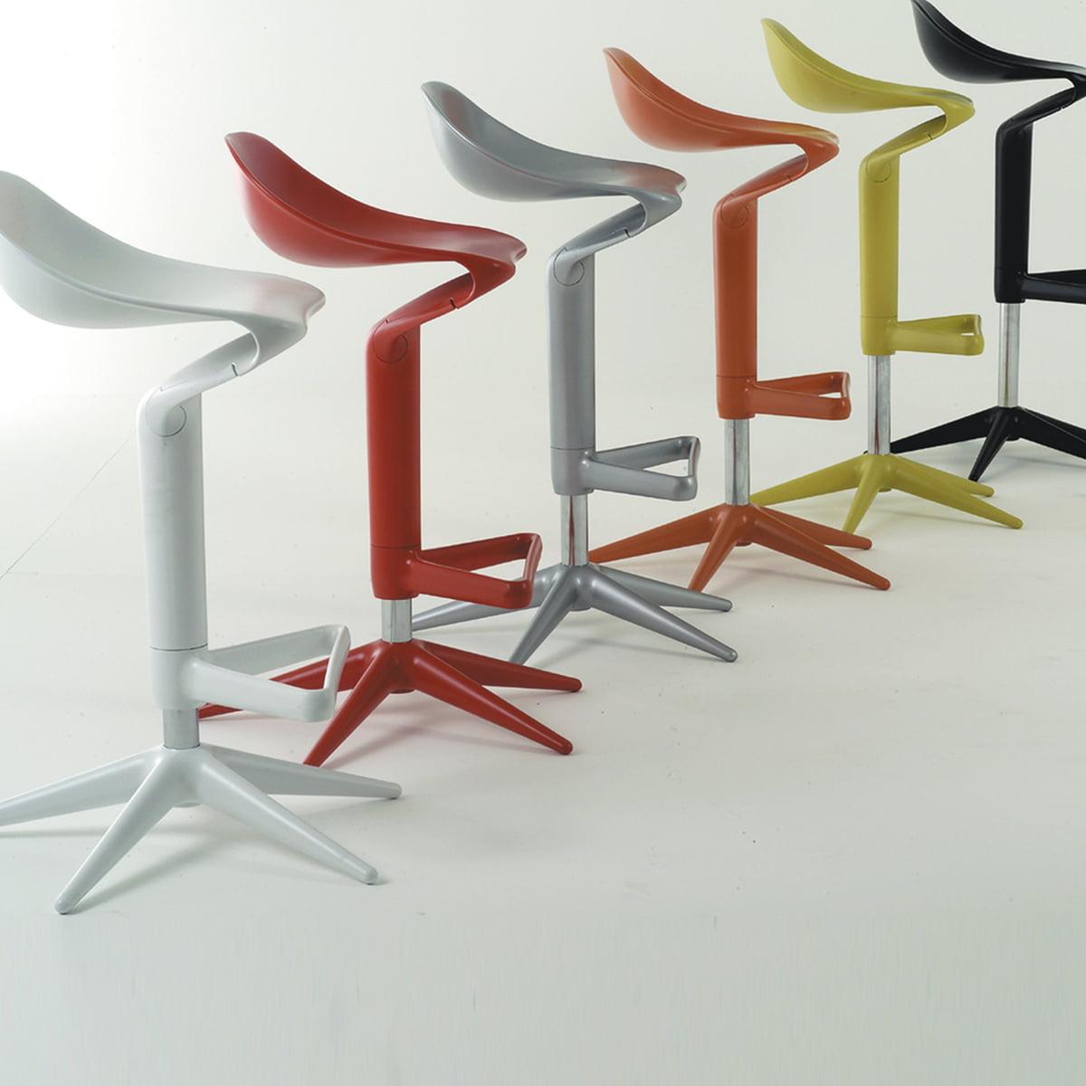 spoon barstool  kartell  shop - kartell  spoon bar stool