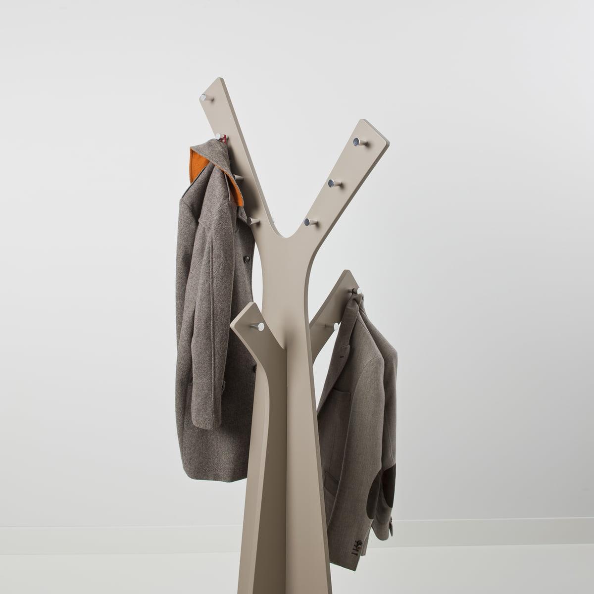 cascando tree stand wardrobe grey with jackets - Clothes Tree