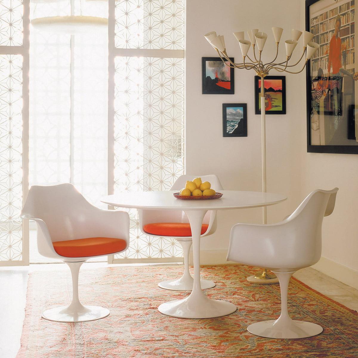 Wonderful Knoll   Saarinen Tulip Chair, Swivel, Seat Cushion Avocado