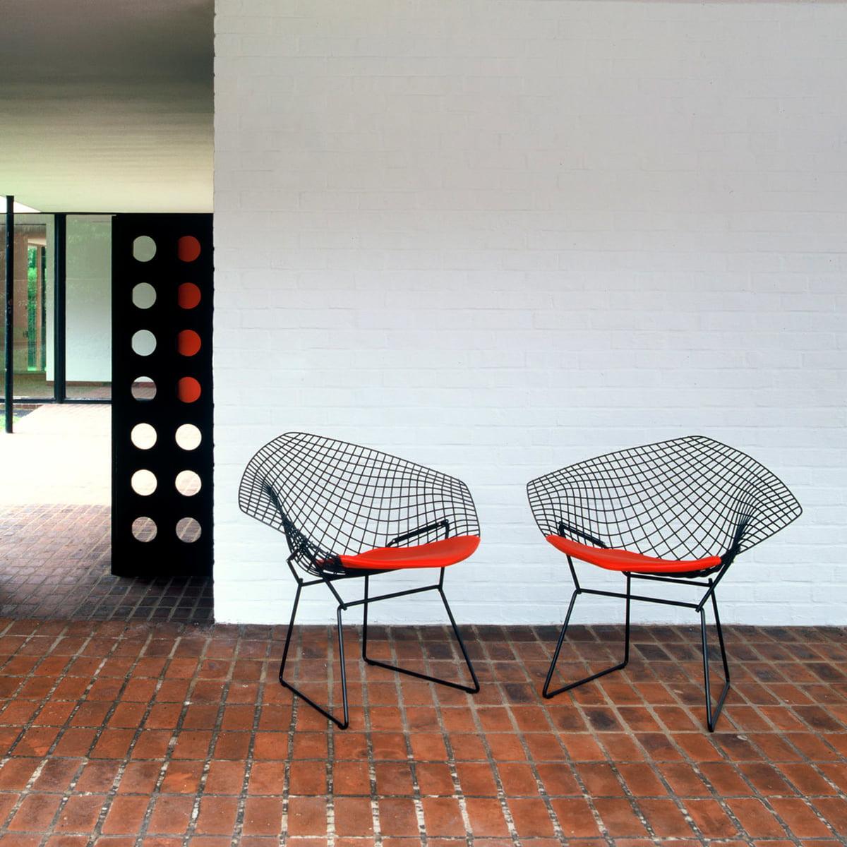 Bertoia diamond chair black - Knoll Diamond Outdoor Chair Black