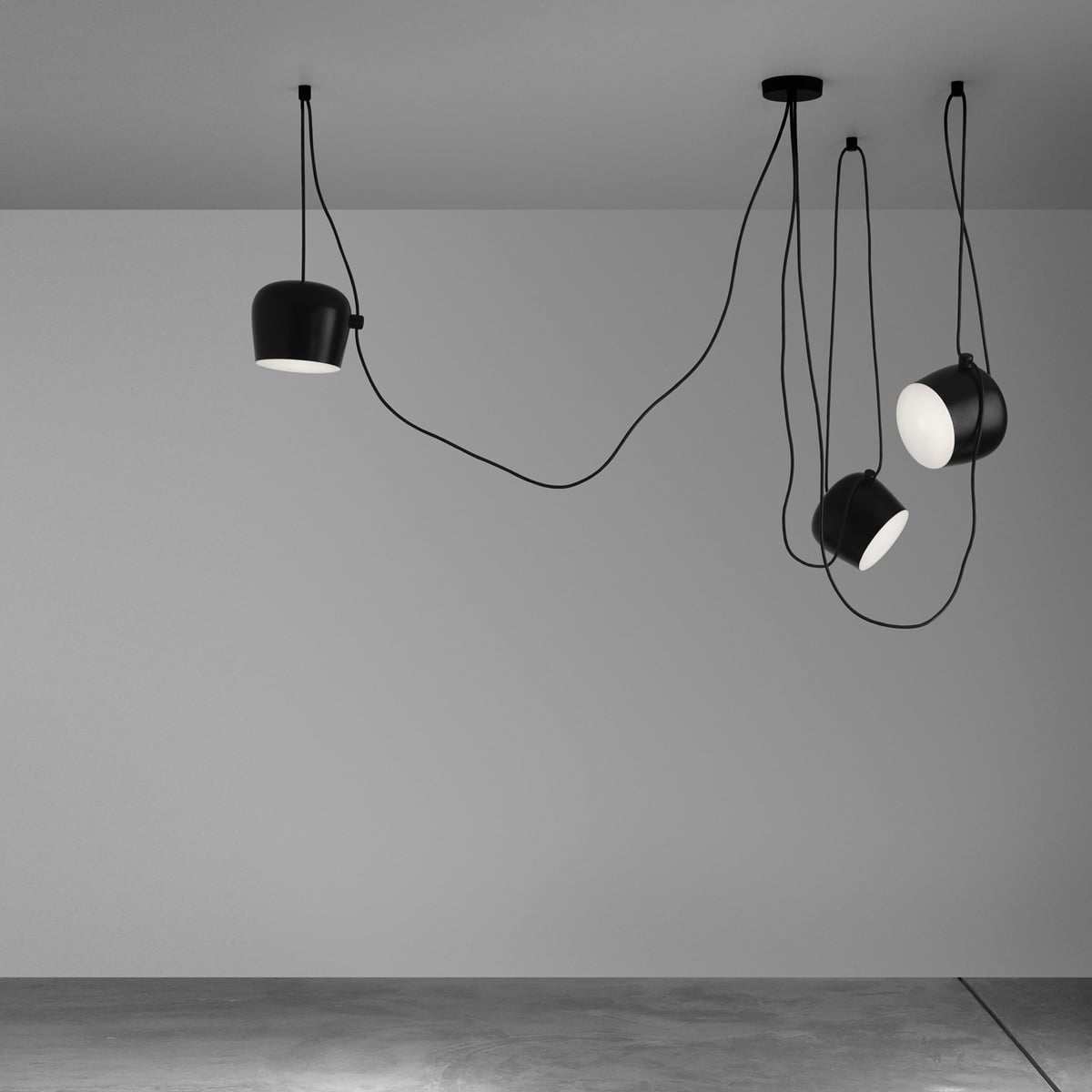 Aim pendant lamp by flos in the design shop for Luminaire suspension