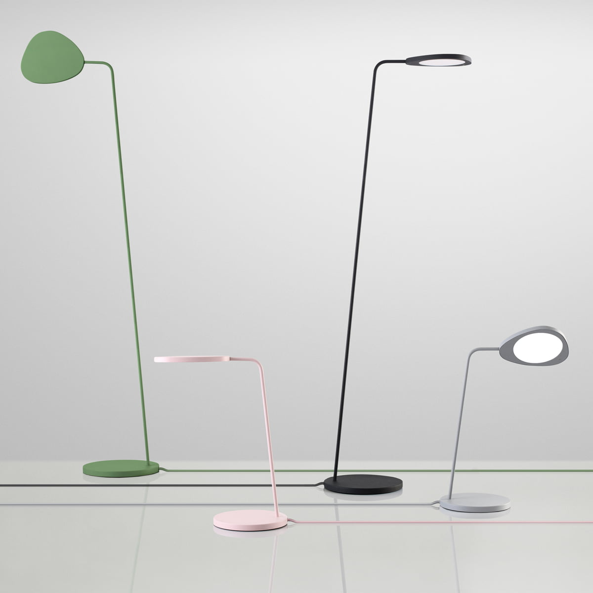 Muuto - Leaf table and floor lamp - group - The Muuto Leaf Floor Lamp In The Interior Design Shop