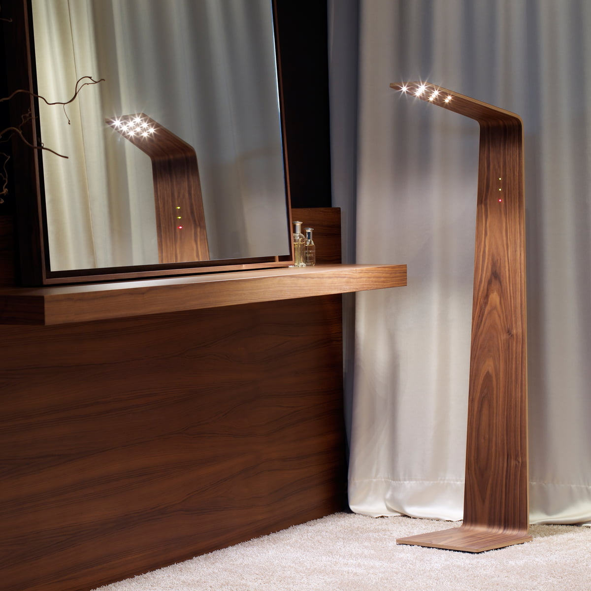 led 2 floor lamp by tunto ideal for tables and shelves