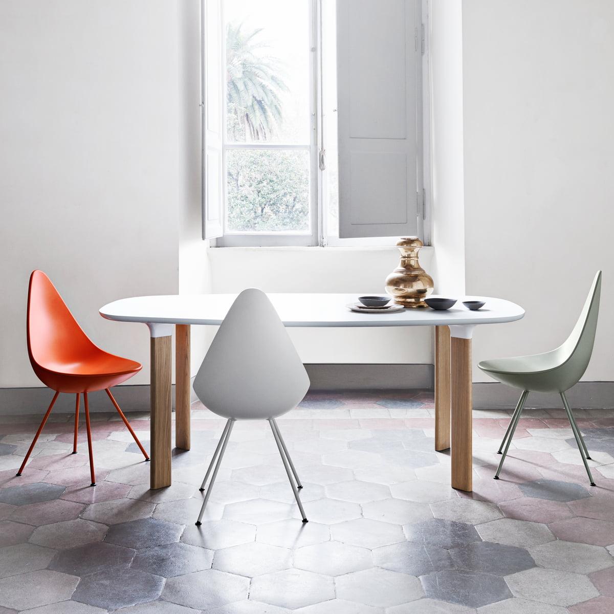 Arne jacobsen drop chair - Fritz Hansen Drop Chair
