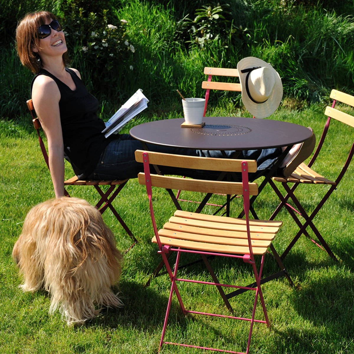 The Bistro natural folding chair by Fermob