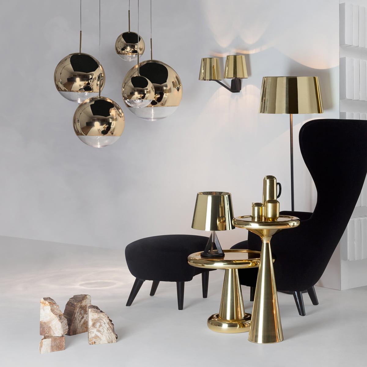 Tom Dixon - Mirror Ball Gold Pendant Lamp - Mirror Ball Gold Pendant Light By Tom Dixon