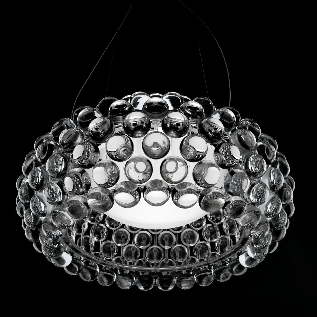 caboche pendant lamp by foscarini - foscarini  caboche pendant luminare transparent