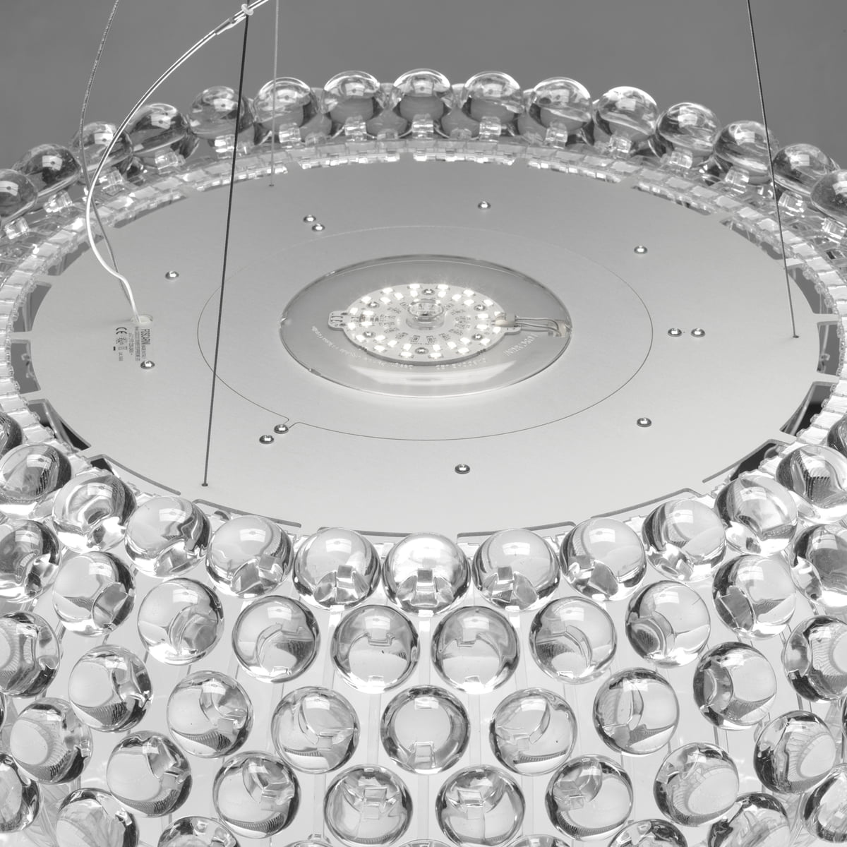 caboche pendant lamp by foscarini - foscarini  caboche pendant luminaire transparent