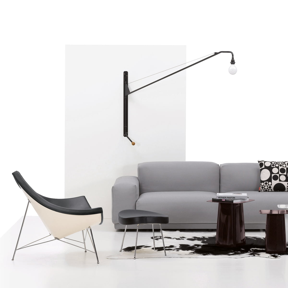 Wall light potence by vitra in the shop for Vitra design teppich