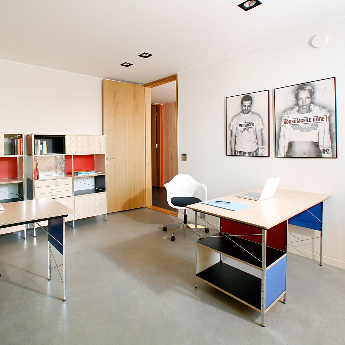 eames desk unit by vitra at the interior shop - the eames desk and storage unit by vitra
