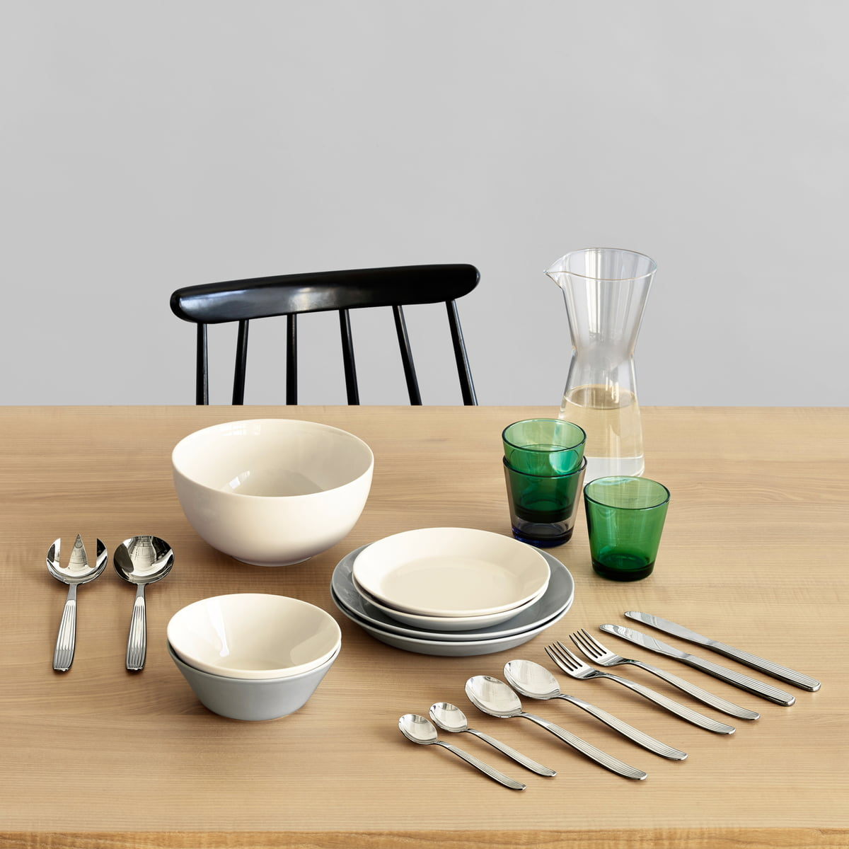 teema starter set by iittala in our design shop - scandia serving set and table silverware by iittala