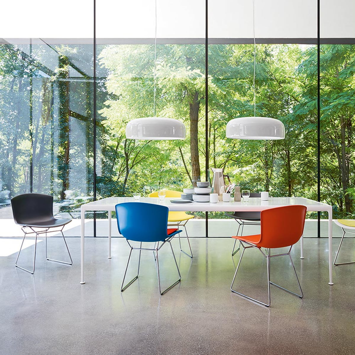 Bertoia chair dining room - Knoll Bertoia Plastic Chair