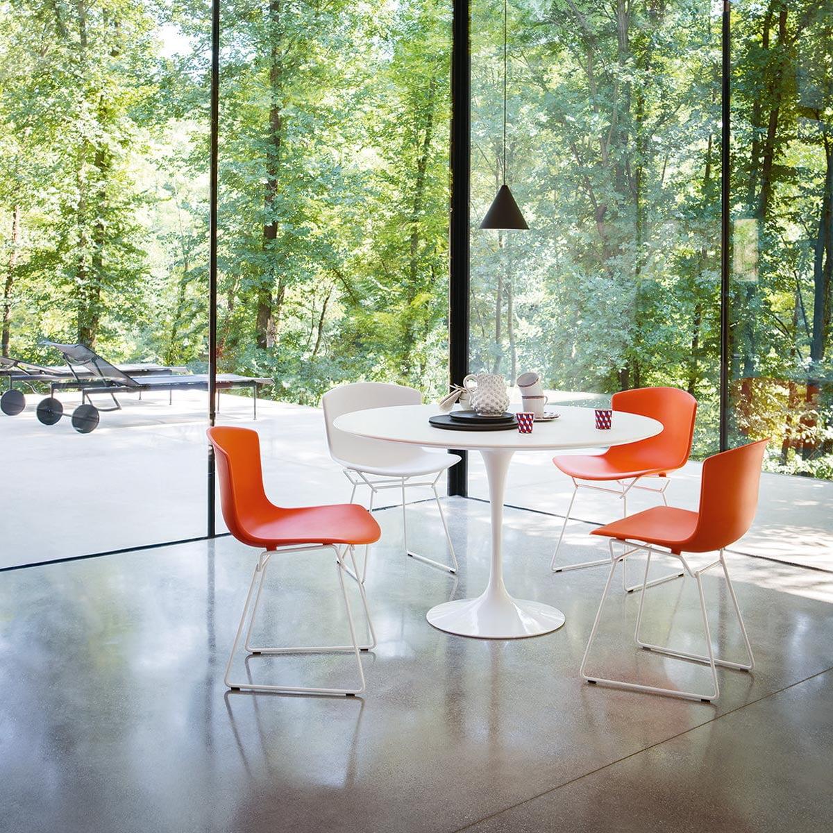 Bertoia chair dining room - Knoll Bertoia Plastic Chair
