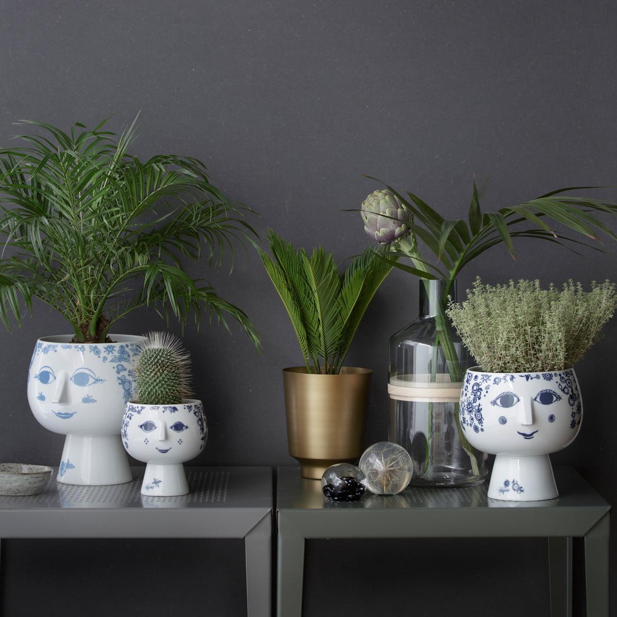 Face Plant Pot Part - 16: Bjørn Wiinblad - Pot Plant Holder With Base Juliane