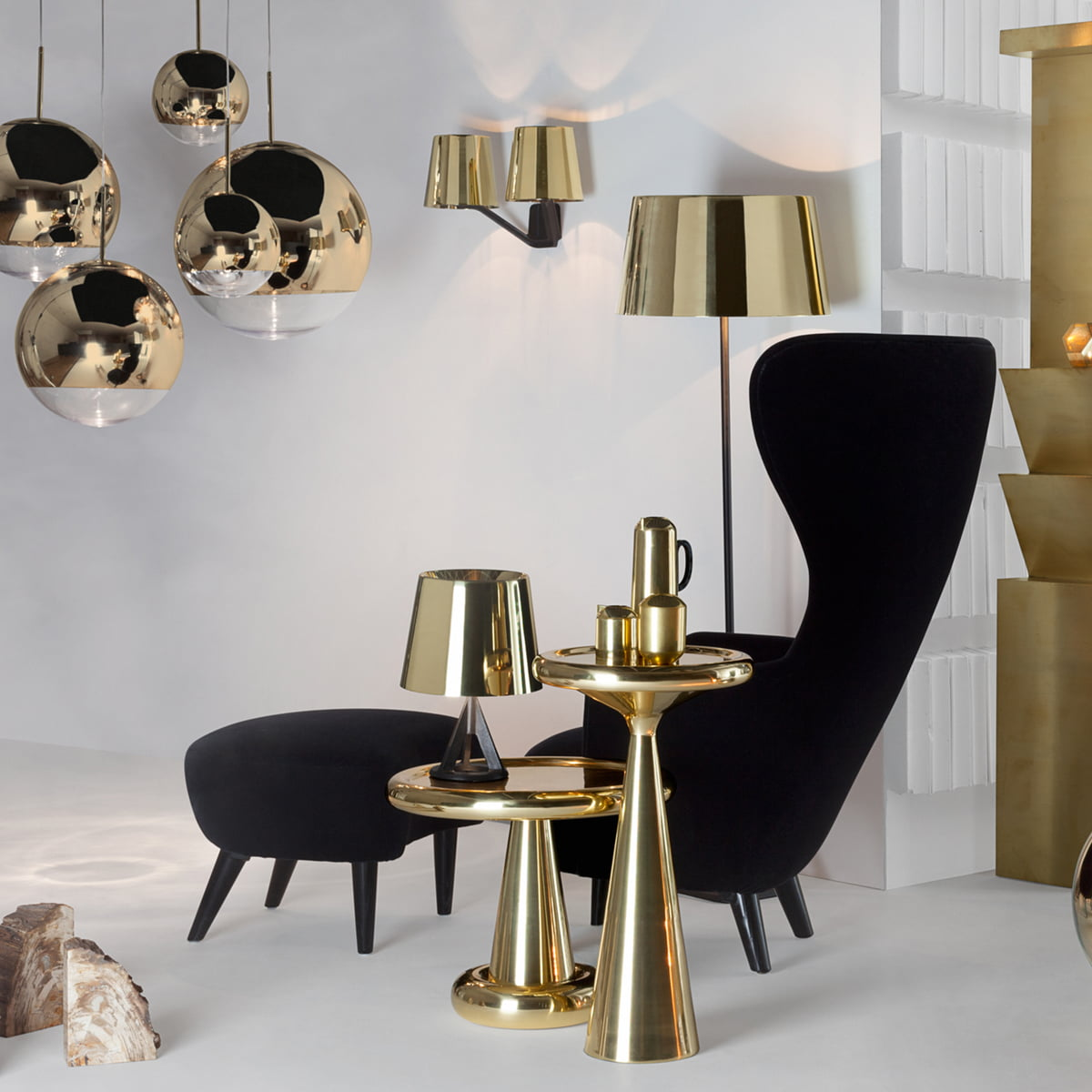 Wingback chair tom dixon - Base Collection By Tom Dixon With Wingback Armchair And Ottoman