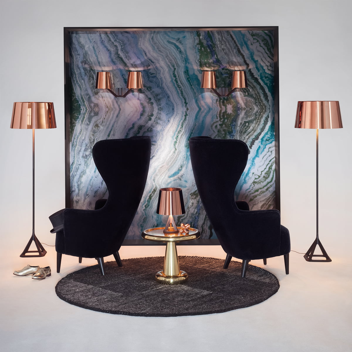 Wingback chair tom dixon - Base Collection By Tom Dixon With Wingback Armchair