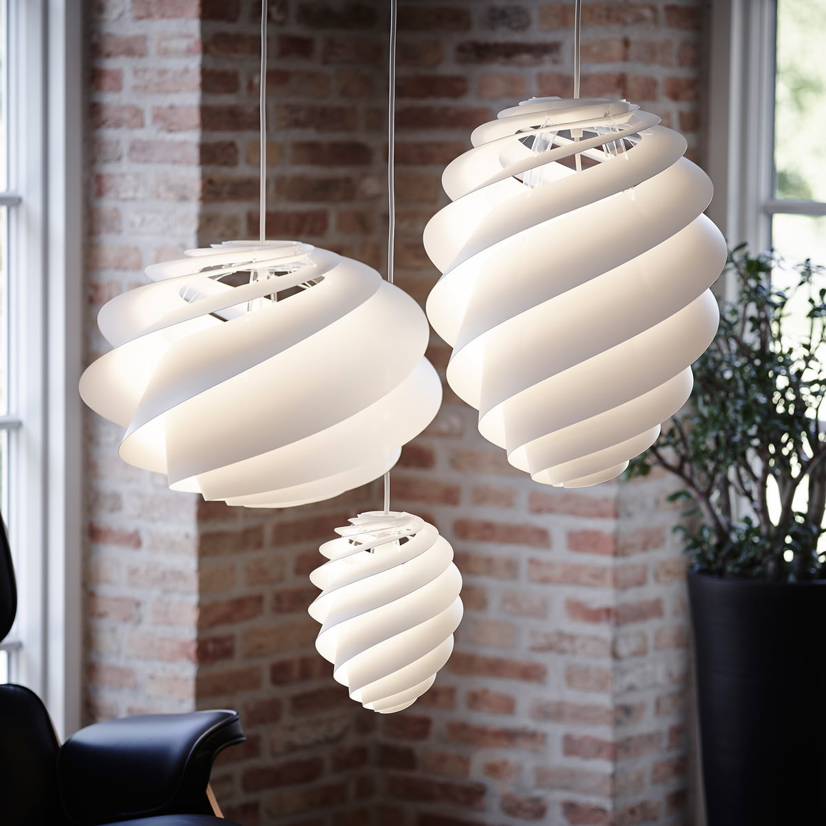 le klint lighting. swirl by le klint in oval and round lighting connox