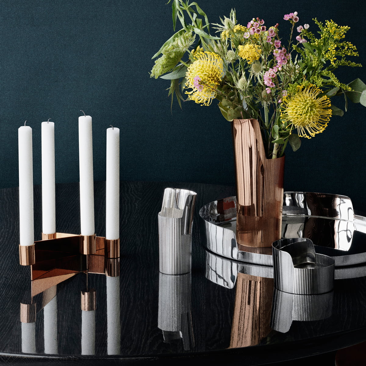urkiola candlesticks by georg jensen in the shop. Black Bedroom Furniture Sets. Home Design Ideas