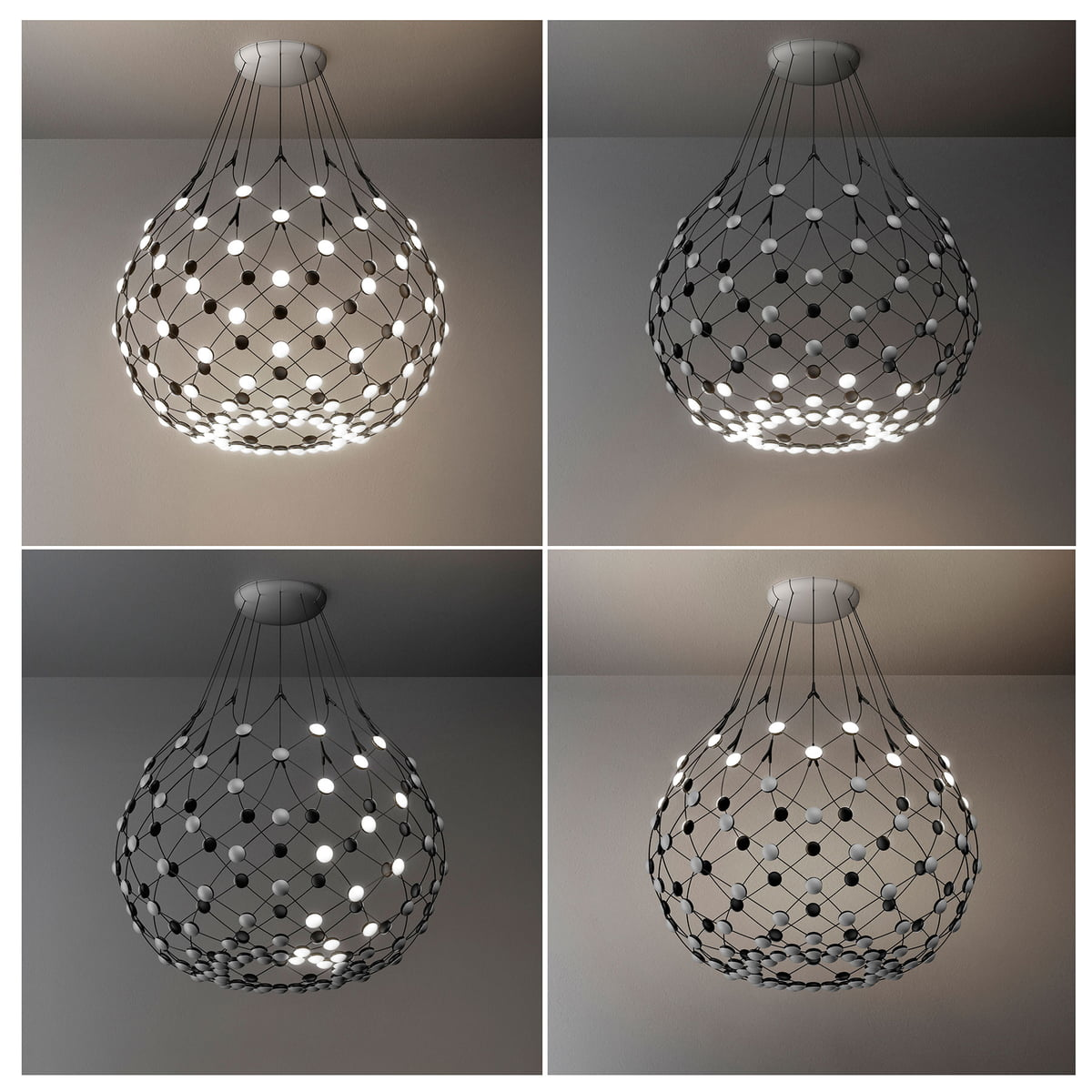 mesh pendant lamp by luceplan in the shop. Black Bedroom Furniture Sets. Home Design Ideas