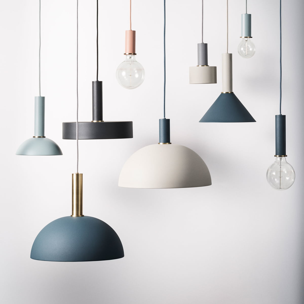 socket pendant lamp high by ferm living. Black Bedroom Furniture Sets. Home Design Ideas