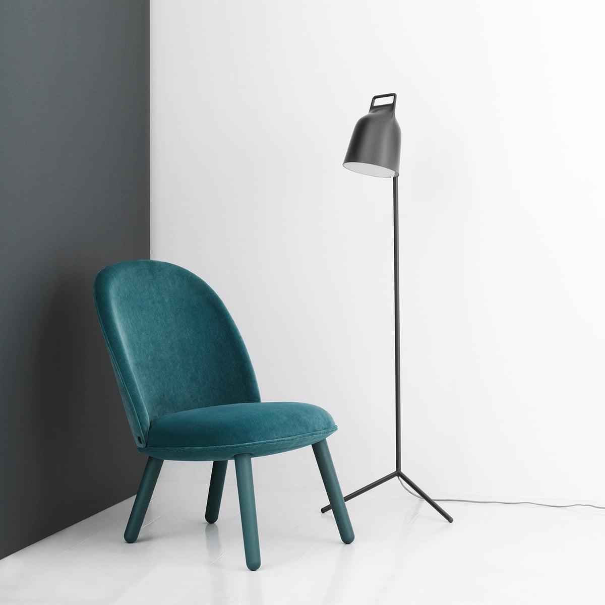 ace lounge chair velour by normann copenhagen. Black Bedroom Furniture Sets. Home Design Ideas