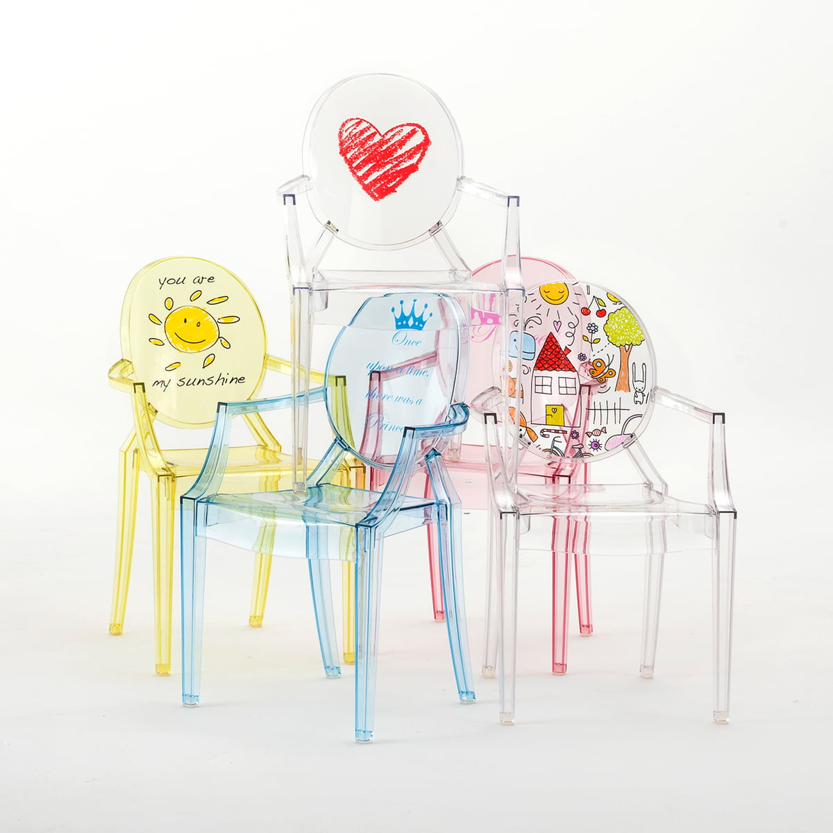 children s chair lou lou ghost by kartell in the shop. Black Bedroom Furniture Sets. Home Design Ideas
