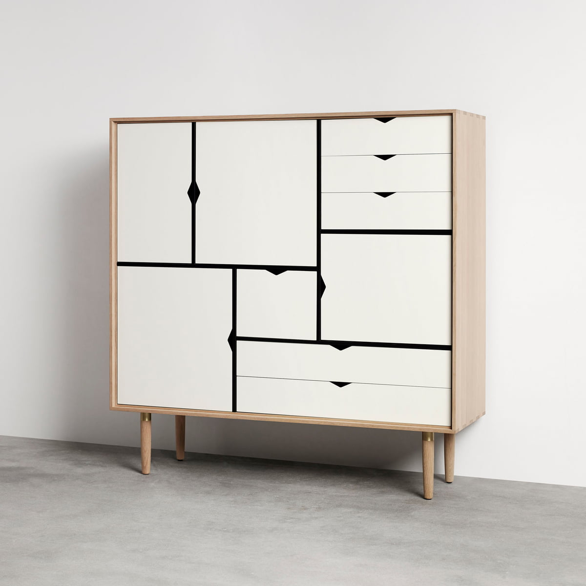 s3 sideboard unicoloured by andersen furniture. Black Bedroom Furniture Sets. Home Design Ideas