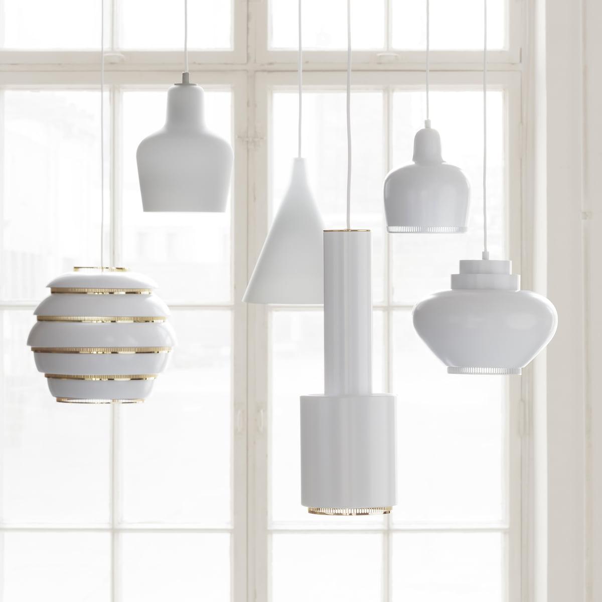 pendant lamp a hand grenade by artek - lights by alvar aalto for artek